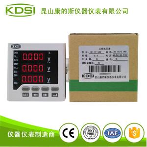 测量数显三相交流电压表 BE-72 3AV AC10-0.1KV 电源80-270V