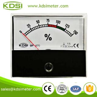 指針式直流電流百分比負載表 BP-670 DC30mA 0-150