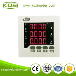 80*80三相交流電流表 智能顯示儀表 AC100/5A電流變比可編程