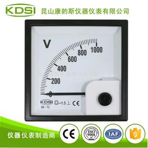 指針式配電柜電壓測量儀表BE-72 DC1000V