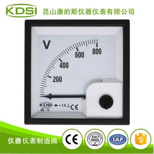 方形指針電壓表頭BE-72 AC800V整流式