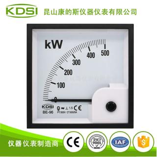 指針式方形功率測量儀表BE-96 500KW 500V 600/5A