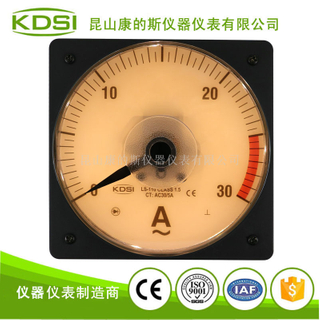 指針燈光顯示電流表LS-110 AC30/5A黃光 電壓24V
