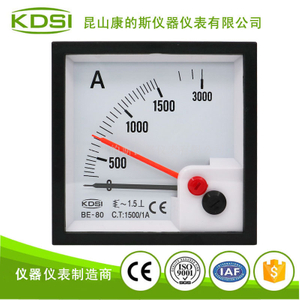 雙指針交流電流表BE-80 AC1500/1A