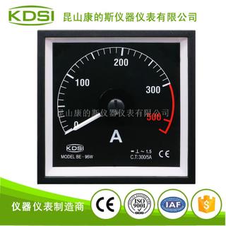 指針式廣角度交流電流表BE-96W AC300/5A 0-500